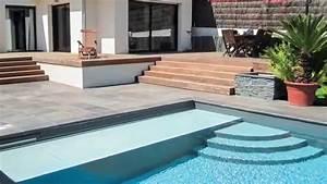 la piscine avec escalier sur mesure par l39esprit piscine With construire sa piscine en parpaing