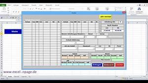 1 Zeiterfassungsprogramm In Excel Selber Erstellen  Excel