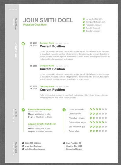Free Resume Creation by 7 Free Resume Template Just Used This One My Resume