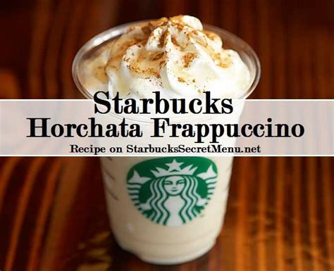 starbucks light menu starbucks horchata frappuccino starbucks secret menu
