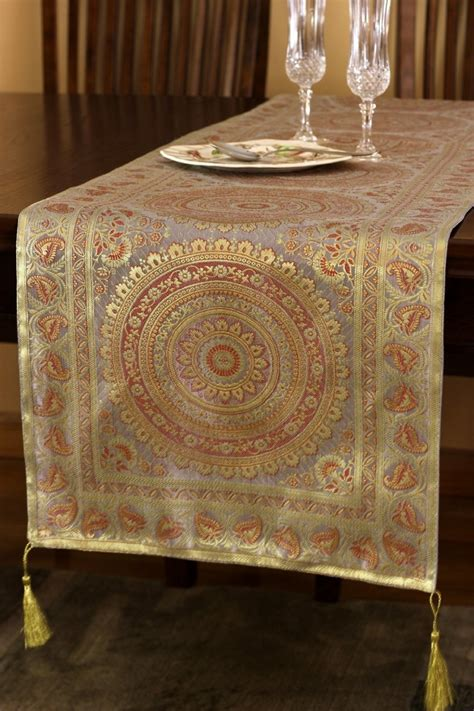 exotic oriental table runner banarsi designs