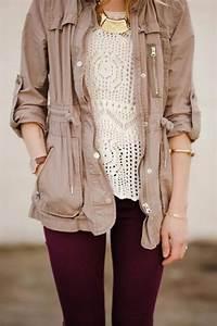 Khaki Cotton Twill Hooded Utility Jacket