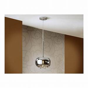 Schuller argos chrome oval dome ceiling light pendant