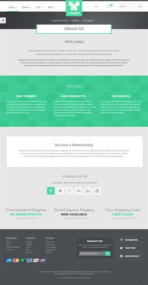 About Us Page Template Ot Tshirt Responsive Fashion Store Joomla Template