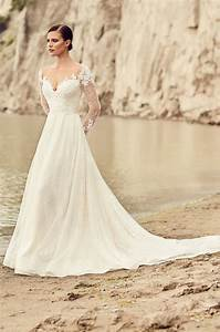 Embroidered Long Sleeve Wedding Dress - Style #2118 ...