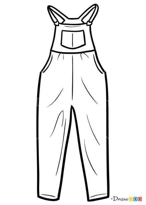 draw overalls clothes