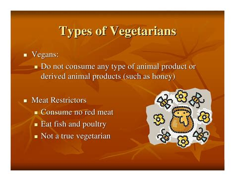 types of vegetarians vegetarianism