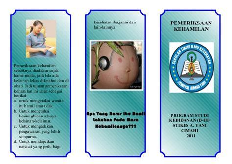 Hamil Muda 4 Minggu Leaflet Pemeriksaan Ibu Hamil