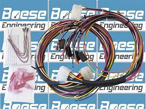 Universal Gauge Wire Harness  For Tach  Speedo  Elec  Gauges