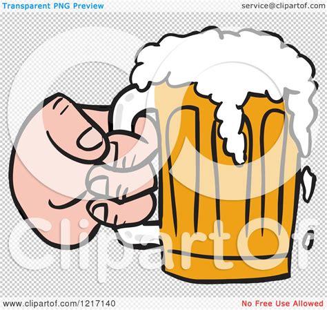 Hand Holding Beer Mug Cheers Clip Art