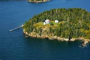 Bear Island Lighthouse In ME United States Lighthouse