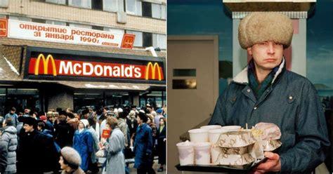russians enjoying mcdonalds    time