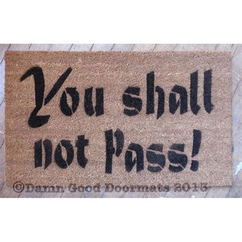 you shall not pass doormat tolkien speak friend and enter with trees