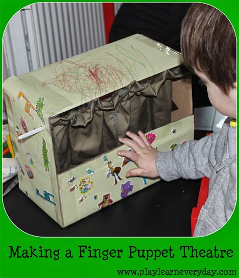 making  finger puppet theatre play  learn  day