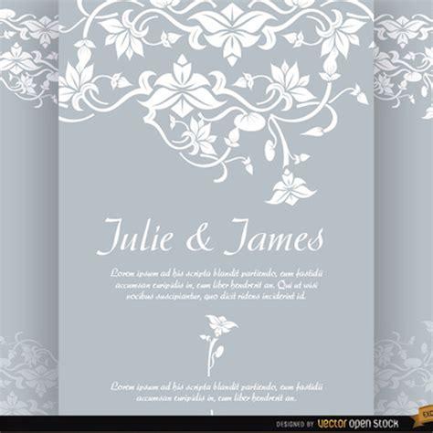 floral wedding invitation vector  vectors ui