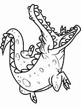 Crocodile Coloring Pages Alligator Animals Printable Drawing Sheet Colorings Getcolorings Getdrawings Clipartmag sketch template