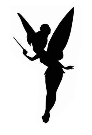 chambre f馥 clochette silhouette de fée clochette à imprimer recherche vinyl silhouette de fée fee clochette et clochette