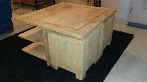 table basse avec poufs par ch 234 nedinspiration sur l air du bois