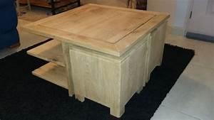 Table Basse 4 Poufs : table basse avec poufs par ch nedinspiration sur l 39 air du bois ~ Teatrodelosmanantiales.com Idées de Décoration