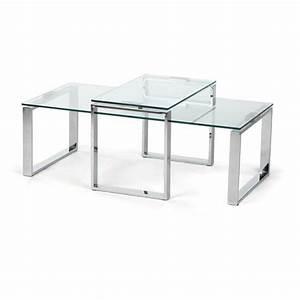 Couchtisch 2er Set : 2er set couchtisch glas stahl glastisch wohnzimmertisch beistelltisch tisch neu ~ Whattoseeinmadrid.com Haus und Dekorationen