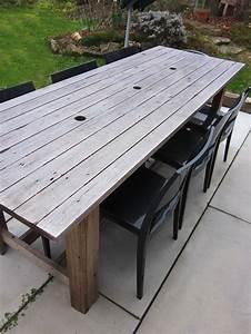 recup39 de volets de baies vitrees pour fabriquer une table With fabriquer sa table de jardin en bois