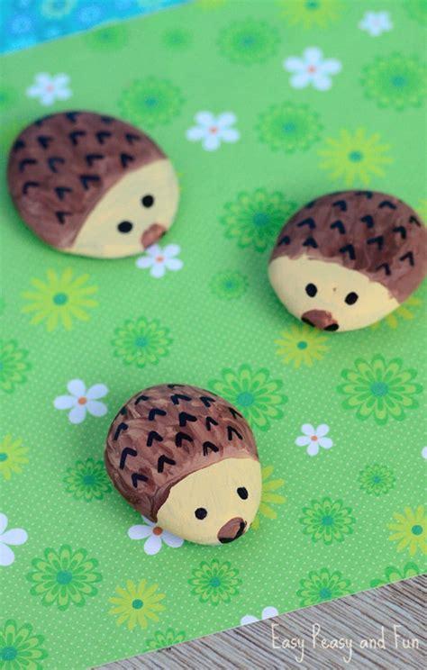 hedgehog painted rocks fun family crafts