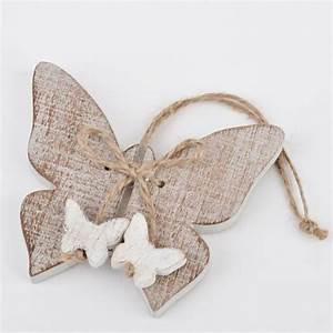 Bedeutung Schmetterling In Der Wohnung : schmetterling deko anh nger holz 8x9cm natur weiss dekogirlande ebay ~ Watch28wear.com Haus und Dekorationen
