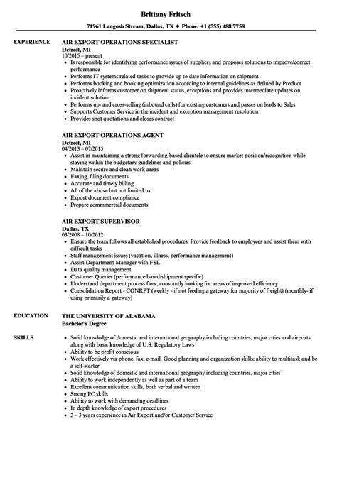 Air Resume by Air Export Resume Sles Velvet
