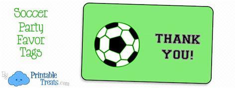 soccer party favor tags printable treatscom