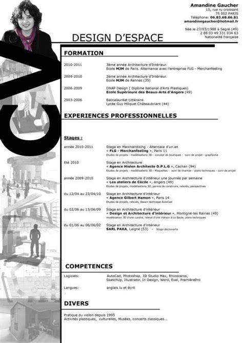 Creative Architecture Student Resume by Pin By Margot Genestier On Cv Curriculum