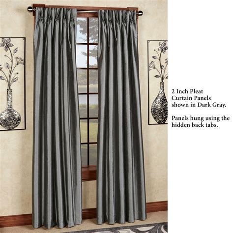 Pinch Pleated Drapery Panels by Marquee Flared Faux Silk Pinch Pleat Curtain Panel