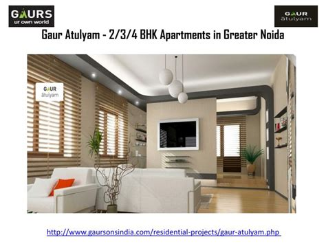 2 3 bhk flats in ppt gaur atulyam 2 3 4 bhk apartments in greater noida powerpoint presentation id 7300068
