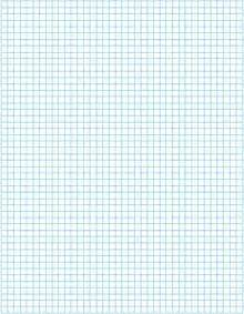 Printable Full Page Graph Paper Blue