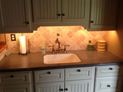 under cabinet lighting in laundry room for some nice
