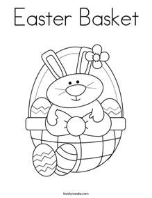 coloring page easter basket image