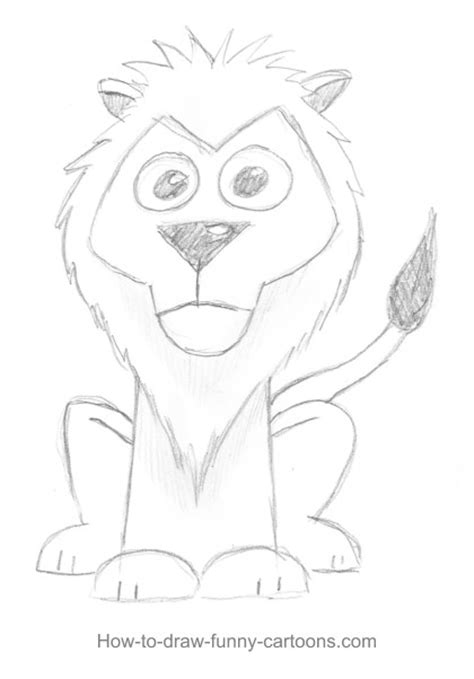 lion drawings sketching vector