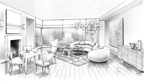 black  white rendering  waldo fernandezs living