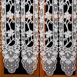 Rideau Brise Bise Lin Dentelle : rideaux dentelle ancienne ou macrame ~ Teatrodelosmanantiales.com Idées de Décoration