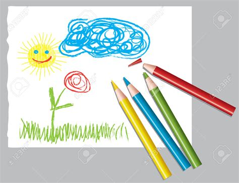 colored pencil drawing clipart clipground