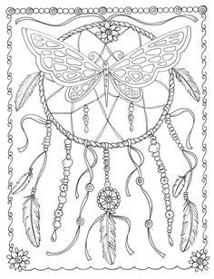Free Printable Dream Catcher Coloring Page! | Adult