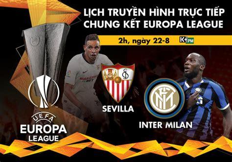 Danh sách trận chung kết cúp uefa và europa league là một danh sách chọn lọc của wikipedia tiếng việt. Chung kết cúp C2 - Europa League 2020 chiếu kênh nào?