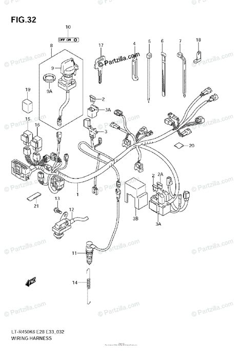 Suzuki Atv Oem Parts Diagram For Wiring Harness