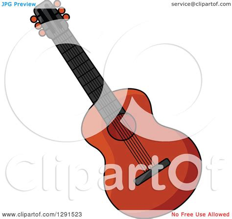 free royalty free clipart clipart of a acoustic guitar royalty free vector