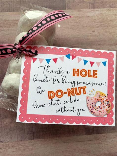 instant  donut appreciation printables holes