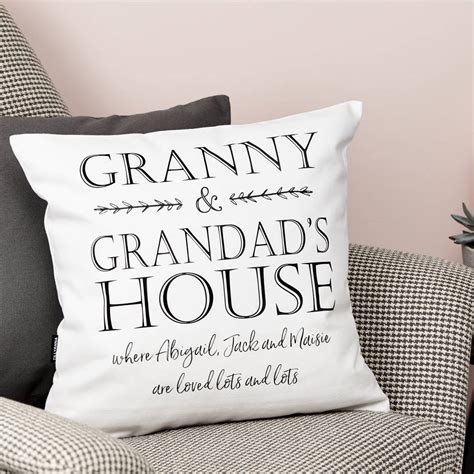 personalised cusion personalised grandparents house cushion by tillyanna