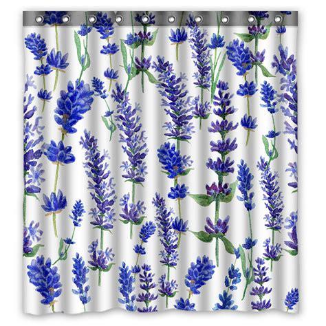 Purple Flower Shower Curtain by Phfzk Purple Flower Floral Shower Curtain Watercolor