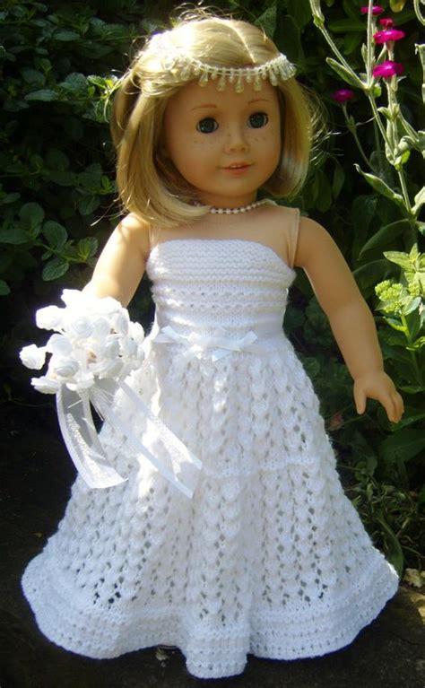 american girl doll top  wedding dress   jacknitss