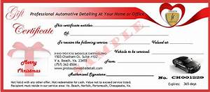 automotive gift certificate template gift ftempo With auto detailing gift certificate template