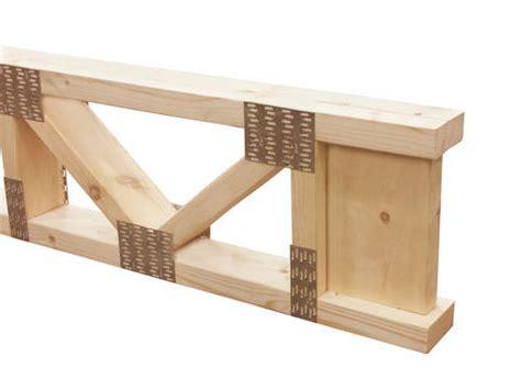 floor joist span 2x4 14 quot x 10 2x4 trimmable end floor truss at menards 174