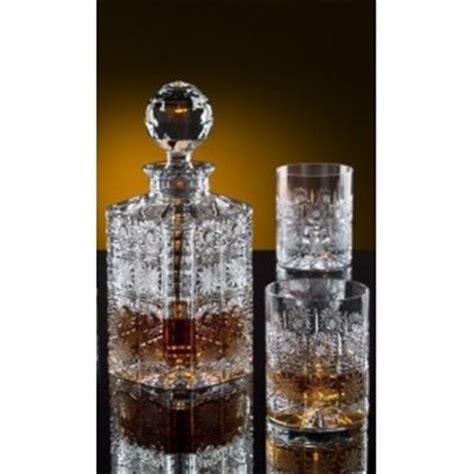 verre a whisky cristal la maison du cristal whiskey decanter set with 2 glasses bohemia